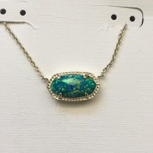 Authentic Kendra Scott blue opal elisa